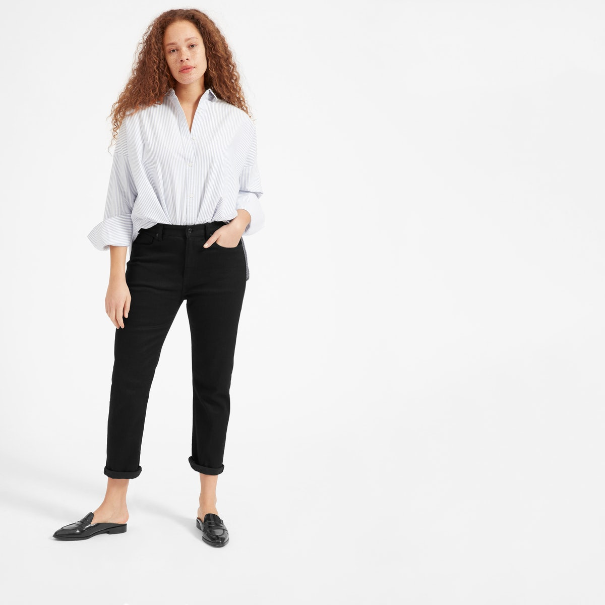 26 Days of Outfit Ideas: How to Style Black Jeans - Nada Manley